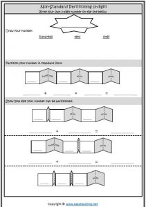 non standard partitioning worksheet