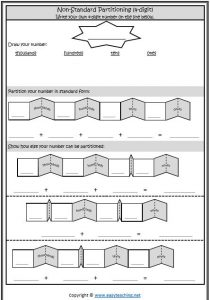 non standard partitioning template