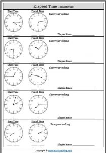 elapsed time sheet minute