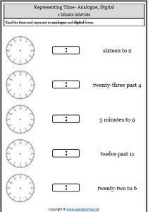 minute intervals time telling time worksheets