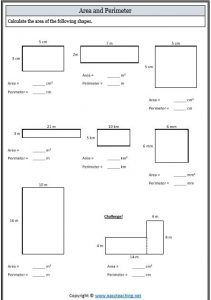 area and perimeter worksheet mahts