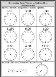 Telling Time Worksheets • O'clock Half Past Quarter to ...