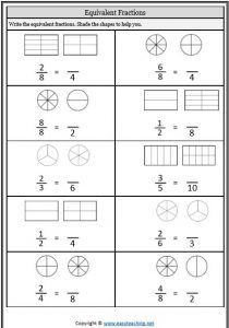 equivalent fractions sheet