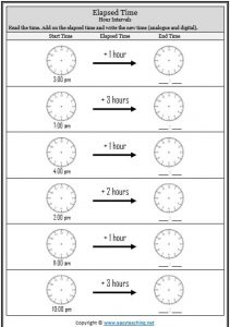 elapsed time worksheets - Elapsed Time Worksheet