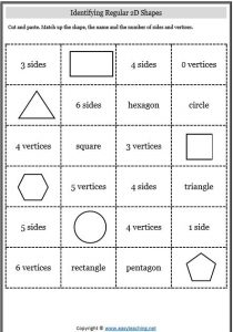 2d and 3d shapes worksheets grade 4
