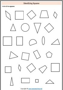 identifying squares 2d shapes