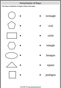 2D Shapes and 3D Shape Activities & Worksheets • EasyTeaching.net
