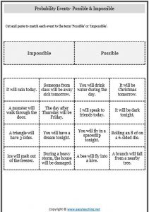 Chance And Probability Worksheets Activities Easyteaching Net