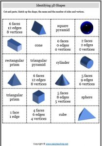 properties of 3d shapes cut paste