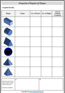 properties 3d shapes list