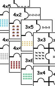 multiplication puzzle pack