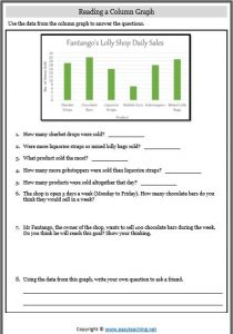 reading a column graph worksheet