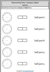 Telling time worksheets oclock half past quarter to analogue digital oclock half past telling time worksheets ibookread PDF