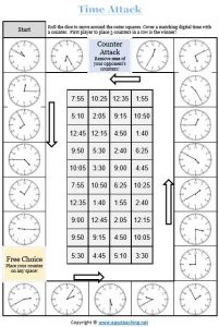 telling time game maths