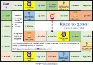 elapsed time game race maths