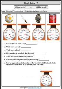 reading scales worksheet