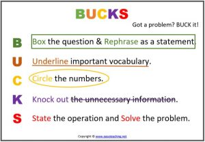 bucks problem solving strategy maths
