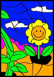 colour by number worksheet flower