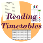 reading timetables teaching time
