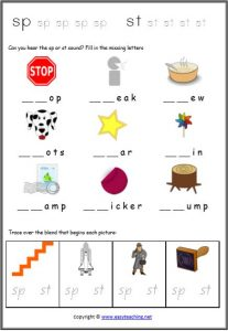 blends and digraphs worksheets combination