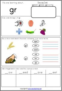 blends worksheet