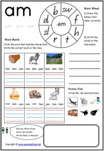 CVC Worksheets Printable Worksheets • EasyTeaching.net