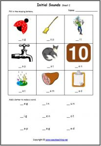 cvc beginning sound cvc worksheets