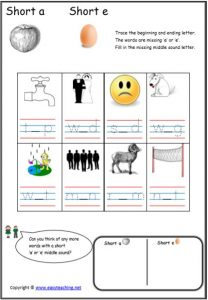 cvc short vowel cvc worksheets