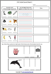 cvc words initial sound sheet cvc worksheets