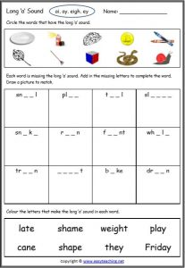 long vowel sounds worksheets