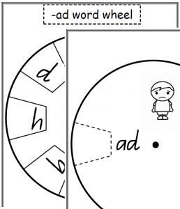 cvc word wheels
