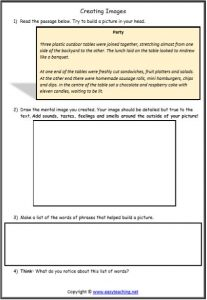 visualising worksheets creating images strategy