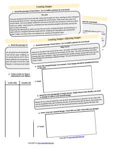 creating images strategy worksheets