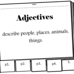 adjective flipbook activity parts of speech
