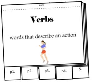 verbs flipbook activity