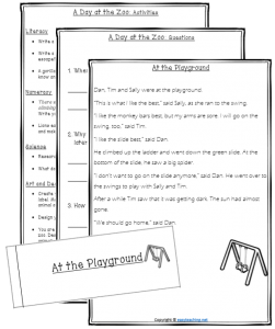 comprehension texts questions
