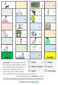 preposition game picture match literacy games