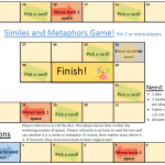 similes metaphors game figurative language worksheets