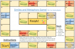 similes metaphors game literacy games