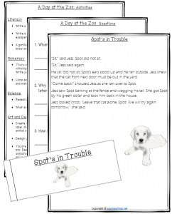 comprehension texts questions activities