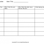 vocabulary builder graphic organisers