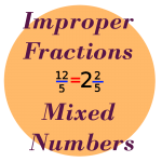 improper fractions mixed numbers