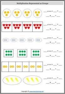 multiplication groups worksheet