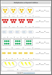 repeated addition multiplication worksheet