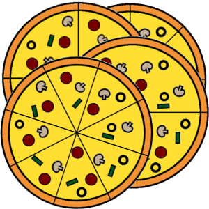 pizza fraction templates