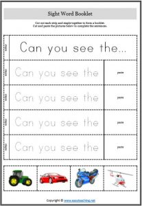 sight word booklets cut staple
