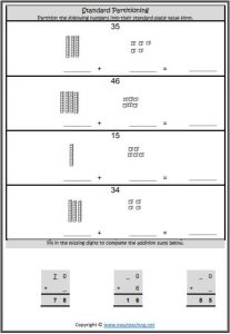 standard partitioning worksheet