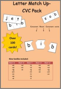 cvc words game match letters