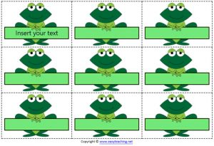 name tags labels frog edit classroom school
