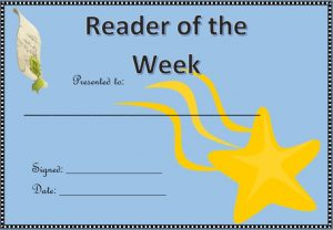 classroom awards printable reader